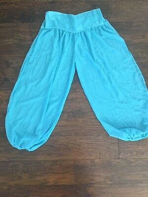 Blue Sheer I Dream Of Jeannie Genie Pants Costume Boho Western Fashion M/L Arab