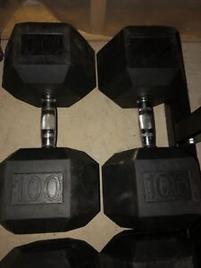 A pair of 100 lb Dumbbells only $140