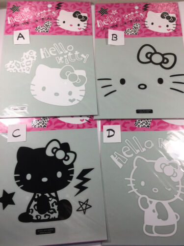 Hello Kitty Window Decal White Face or Outline Ribbon or Sit or Standing Kitty