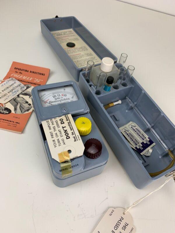 Antique Vintage Medical Surgical PH Coleman Photo Hemoglobinometer NOS NIB
