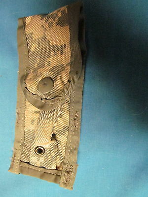 LOT OF 2 USGI MILITARY ACU MOLLE SINGLE PISTOL MAG POUCHES