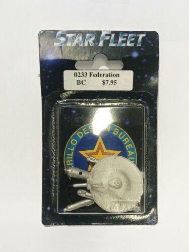 Star Trek Star Fleet 1999 Federation BC Ship 0233 Metal Miniature