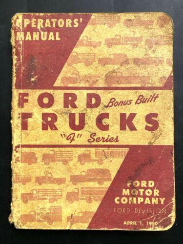"""1950 FORD TRUCKS """"F"""" SERIES vintage operators"""