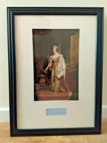 Queen Victoria original hand signed display piece with frame