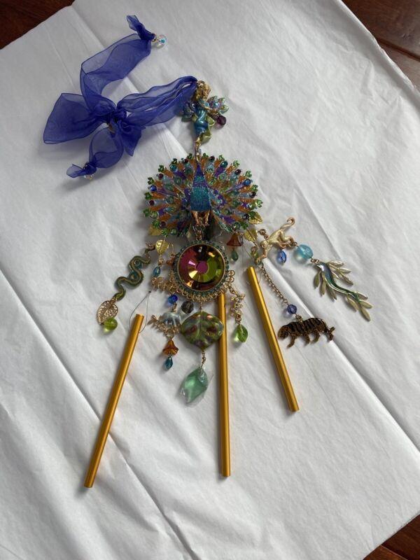 Kirks Folly Peacock  Animal Windchime - NEW