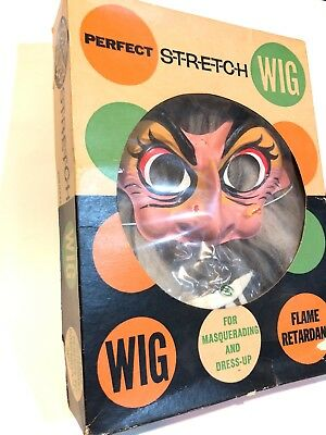 VTG 1960s Ben Cooper WITCH Costume Wig Box Classic Old PLASTIC HALLOWEEN Rare