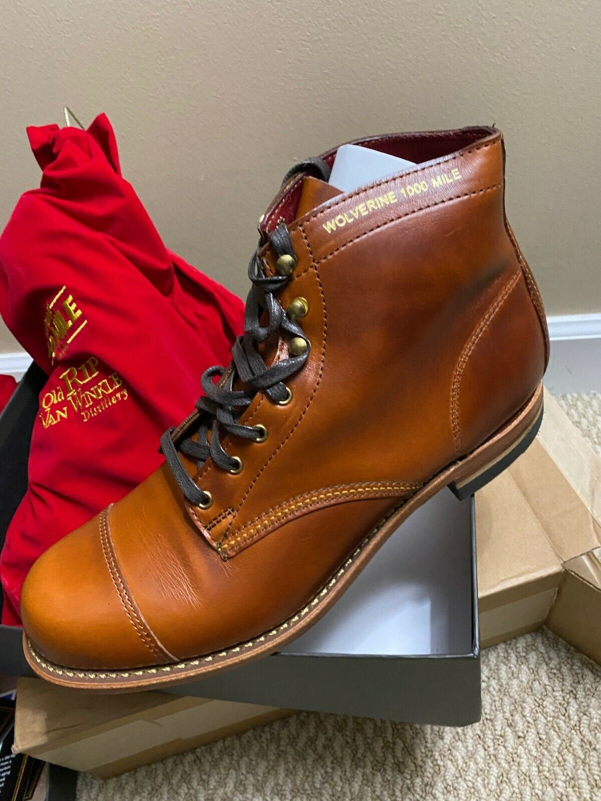 Wolverine 1000 Mile x Old Rip Van Winkle Boot- Size 10.5 D -NEW Limited Edition
