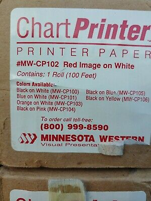 Chart Printer Thermal Paper Dtp Red On White 23 Poster Mw-cp102 100