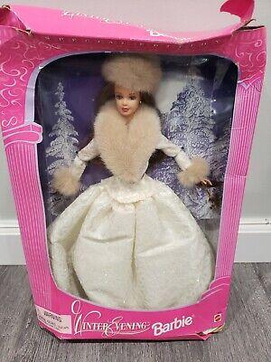 WINTER EVENING Brunette Barbie Doll 1998 Special Edition NIB