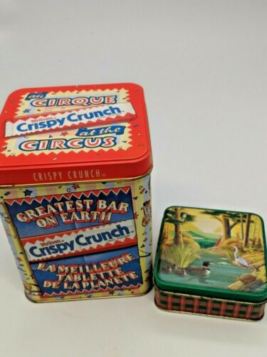 Collectible Advertising tins (Lot of 2) One Nelison, One Generic Candy tin