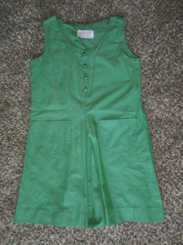 Vintage Official Girl Scouts New York Green  Dress Uniform Size 10