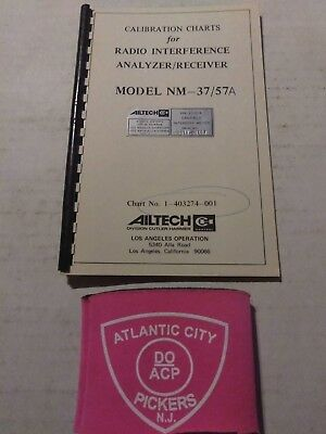 Ailtech Calibration Charts Radio Interference Analyzerreciever Mdl Nm 3757a