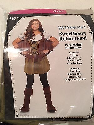 Halloween Costume Girl's Wonderland Sweetheart Robin Hood Medium, or Large](Girl Robin Costumes)