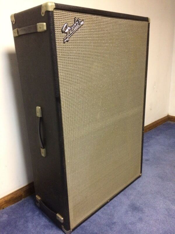 """Very rare Fender Bassman cabinet with 2x15"""" speakers...with Cover"""