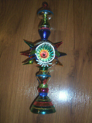 SHARP Christopher Radko Shiny Brite Christmas Tree Finial Topper 1940s Design