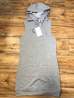 FABLETICS Womens Yukon Dress Gray French Terry Sleeveless Kangaroo Pocket Size M
