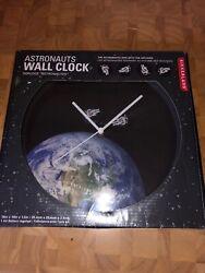 Silent Wall Clock Kikkerland Astronaut Quartz Home Room Decorative