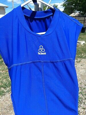 McDavid 7910 HexPad Body Shirt  Ribs and Spine Pads Royal  XL Mcdavid Body Shirt