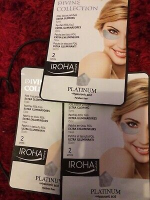 3x Iroha Nature Divine Platinum Foil Eye Patches Extra Glowing 6 units