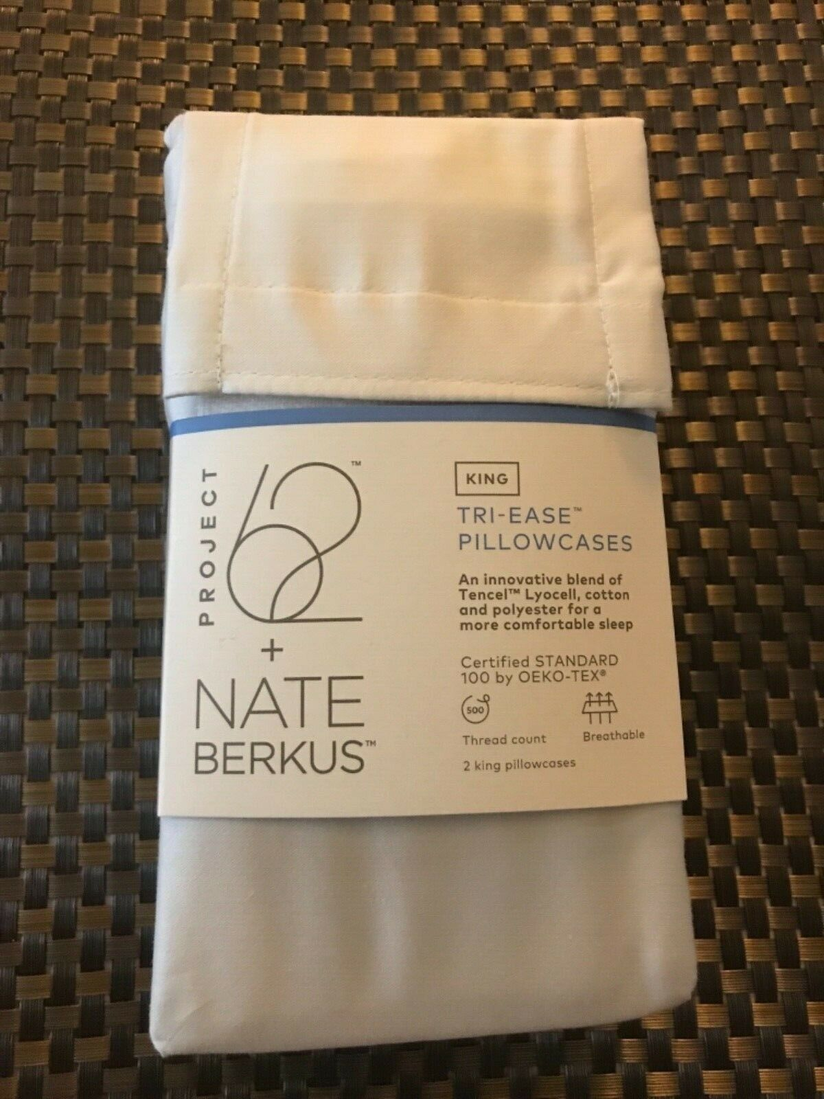 New Nate Berkus Project 62 King Sateen Pillowcases Gray Cott