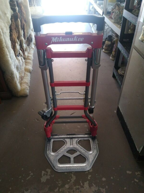 Milwaukee 2 in 1 Convertible Fold up Truck Vertical Horizontal Dolly