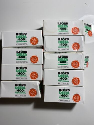 Lot 9 Rolls Ilford Delta 400 120 Professional Black And White Film Expired 2005 - $100.00