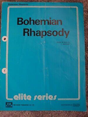 Queen Bohemian Rhapsody Sheet Music.