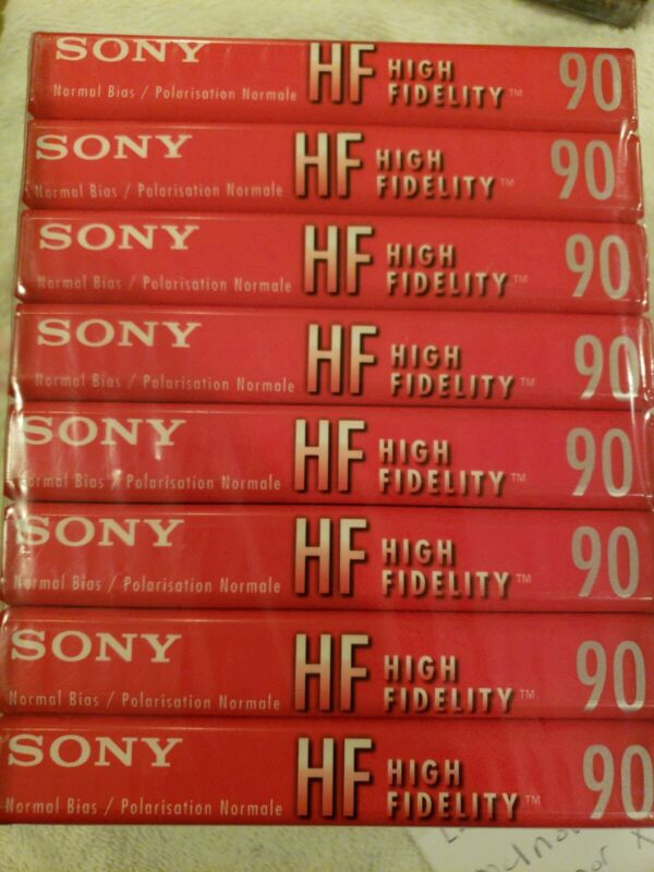 Sony C-90HFL Audio Cassette Tapes Pack of 8 - 90 Minutes Each