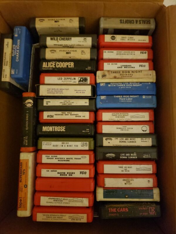 Lot Of 34 8-track Tapes Mixed Artists Pre-owned