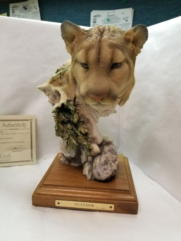 "Mill Creek Studios ""Outlook"" Cougar Figurine Item No. 7030 with COA"