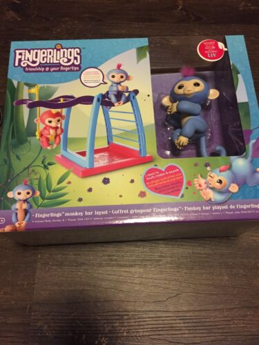 NEW Fingerlings Playset Monkey Bar Playground Come With Liv