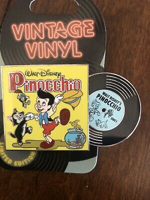 Disney Parks Vintage Vinyl Pinocchio Figaro Cleo March 2019 Pin Of The Month LE
