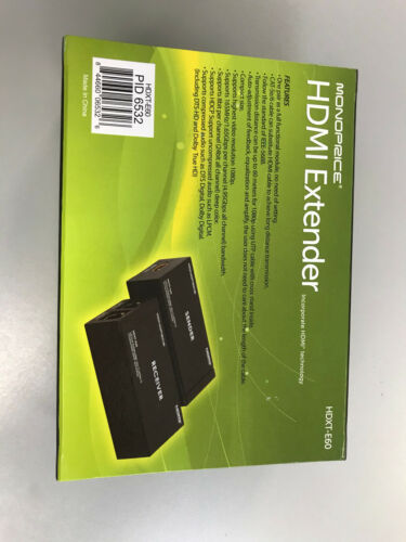 HDXT-E60 MONOPRICE HDMI EXDTENDER COMPLETE WITH POWER SUPPLY AND MANUAL