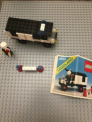 LEGO Town Set 6681 Police Van 100% Complete w/Instructions, no box, vintage