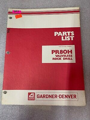 Gardner-denver Parts List Pr80h Valveless Rock Drill 395