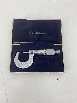 Mitutoyo 101-117 Outside Micrometer 0-1 Range .0001 Graduation Ratcheting