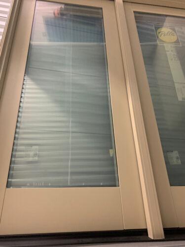 NEW: Premium Pella WOOD Home FRENCH PATIO DOOR w/ Blind & Te