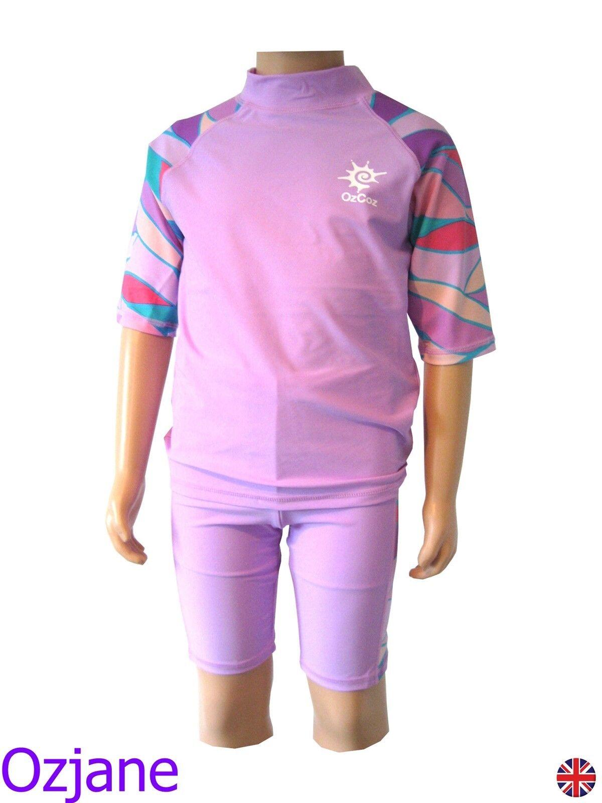 OZCOZ SWIM HAT SUN PROTECTION LEGIONNAIRE PINK 1 TO 2 YRS BABY GIRLS UV 50