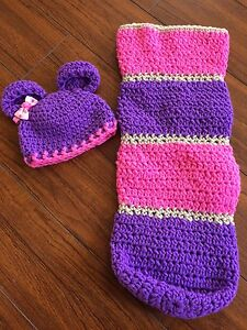 0-3 Month Knitted Hat and Cocoon