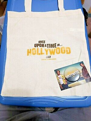 Hollywood Swag Bag (Once Upon Time In Hollywood (2019) SWAG Promo Tote Bag Button Set)