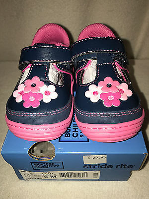 Brand New Stride Rite Baylin Navy/Pink Girls Shoes US Size 5 M