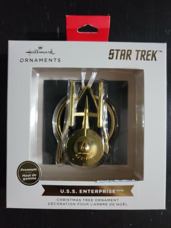 Hallmark Star Trek U.S.S. ENTERPRISE Premium 2021 Gold Christmas Ornament