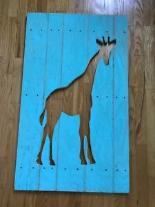 New wooden giraffe wall decor
