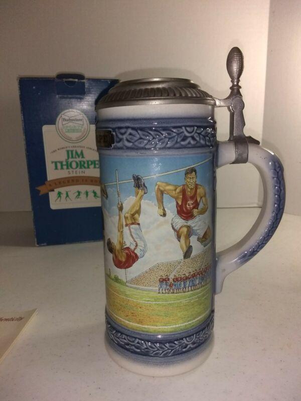"Anheuser Busch Budweiser 1993 SPORTS LEGENDS  ""JIM THORPE"" STEIN    GERMANY"
