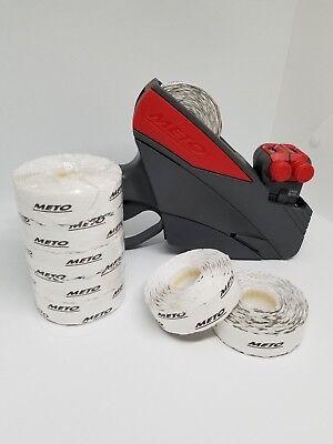 Meto Pricing Gun 2 Line15 Digit Starter Kit 1 Full Sleeve White Labels