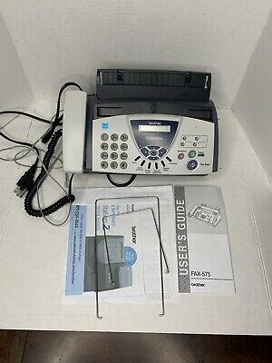 Brother Fax-575 Personal Fax Machine With Phone And Copier W Power Cord Read