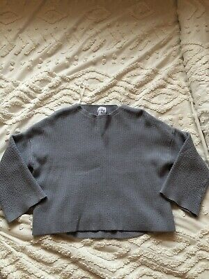 Women's Gray Cropped Sweater Size S/M