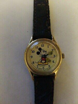 Vintage Mickey Mouse Lorus Quartz Watch Walt Disney Running