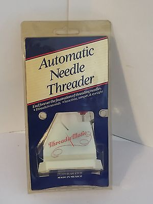 VINTAGE AUTOMATIC NEEDLE THREADER THREAD-A MATIC KIT UNOPENED ORIGINAL PACKAGING