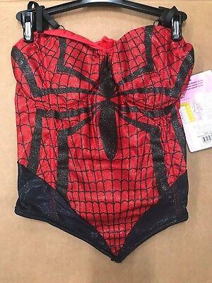 Spiderman Halloween Costume For Women (Disguise Women's Adult Marvel Spiderman Bustier Corset Halloween Party Costume)
